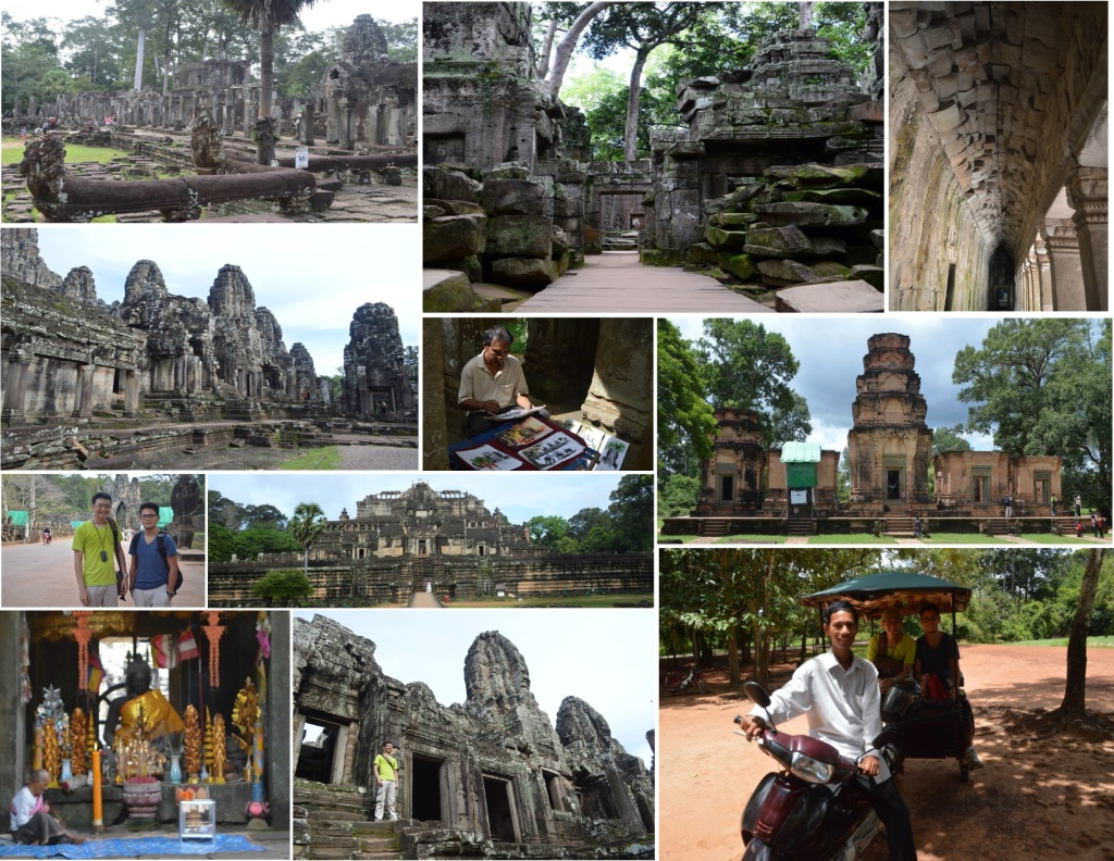 exploring small circuit in Angkor Archeological Park