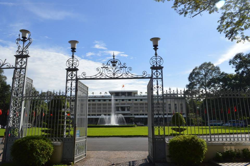 Some places around HCMC are interesting. Like this one: Reunification Palace
